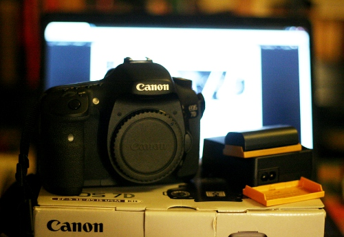 My new crowdfunded camera, a Canon 7D.